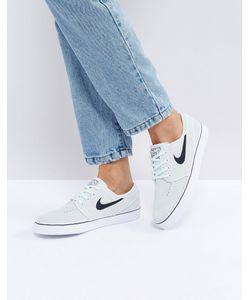 Nike | Замшевые Светло-Бирюзовые Кроссовки Sb Zoom Janoski