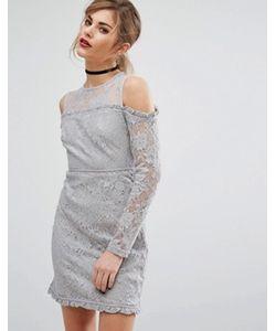 Fashion Union   Кружевное Платье С Вырезами На Плечах