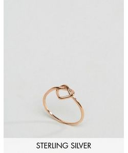 Asos   Серебряное Кольцо Цвета Розового Золота