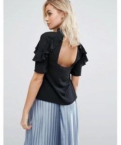Fashion Union | Рубашка С Оборками И Открытой Спиной