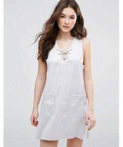 Glamorous | Цельнокройное Платье Со Шнуровкой Спереди