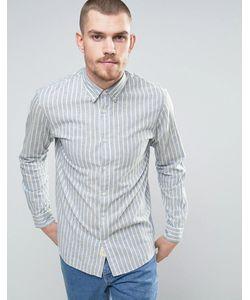 Selected Homme | Рубашка Классического Кроя В Полоску С Кокеткой На Спине