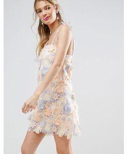 Asos | Платье Мини С Лазерной Отделкой Salon 3d