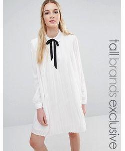 Fashion Union Tall | Плиссированное Цельнокройное Платье С Завязкой Diana