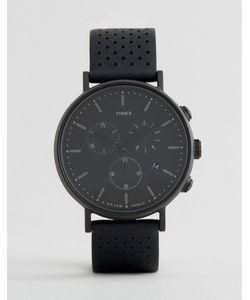 Timex | Часы С Хронографом 41 Мм И Кожаным Ремешком С Перфорацией
