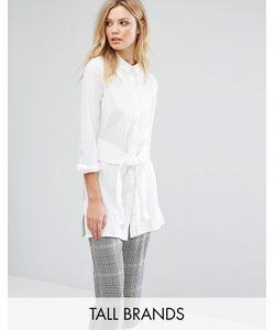 Vero Moda Tall | Удлиненная Рубашка С Завязкой Спереди