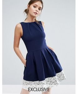 Closet London | Короткое Приталенное Платье С Кружевом По Краю