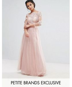 Chi Chi Petite   Платье Макси С Кружевным Топом И Юбкой Из Тюля Chi Chi