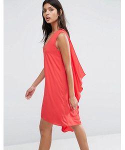BCBGMAXAZRIA | Платье С V-Образным Вырезом И Каскадной Драпировкой На Спине