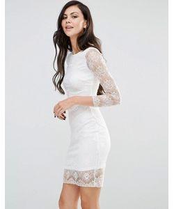 Lipstick Boutique | Облегающее Кружевное Платье С Длинными Рукавами