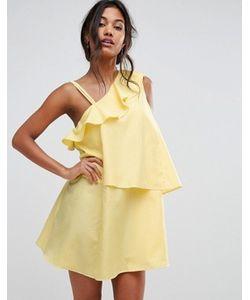 boohoo | Ярусное Платье В Клеточку На Одно Плечо
