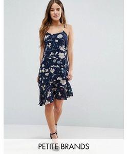 Yumi Petite | Платье На Бретельках С Заниженным Подолом И Оборкой