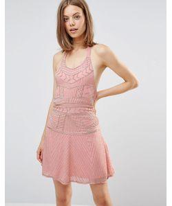 Glamorous | Платье С Халтером И Отделкой Бисером