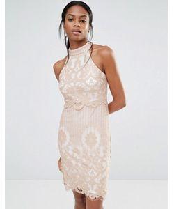 MISSGUIDED | Платье С Кружевным Верхним Слоем