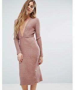 NYTT | Платье С Декольте Спереди И Длинным Рукавом