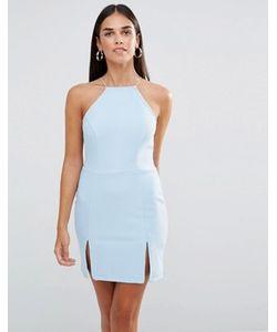Rare | Платье Мини С Квадратной Горловиной И Разрезами