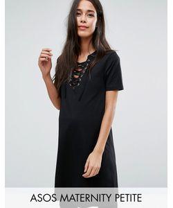 ASOS Maternity | Платье-Футболка Со Шнуровкой Спереди Petite