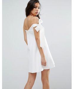 Asos | Платье-Трапеция Мини На Одно Плечо