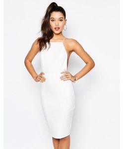MISSGUIDED   Облегающее Платье На Бретельках С Перекрестной Спинкой