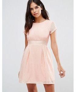 Wal G | Короткое Приталенное Платье Из Сеточки