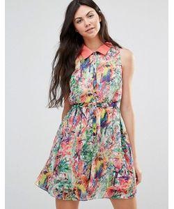 Yumi | Платье С Принтом Попугаев