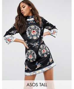 ASOS TALL | Цельнокройное Платье-Туника С Вышивкой