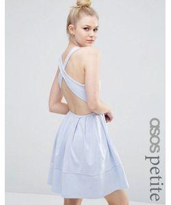 ASOS PETITE | Короткое Приталенное Платье С Перекрестом Сзади