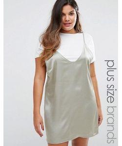 Missguided Plus | Атласное Платье 2-В-1