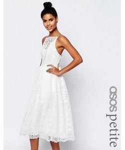 ASOS PETITE | Платье Миди Из Кружева С Геометрическим Узором Premium