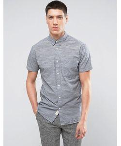 Selected Homme | Полосатая Рубашка Узкого Кроя С Короткими Рукавами