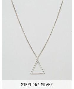 Serge DeNimes | Серебряное Ожерелье С Подвеской-Треугольником Serge De Nimes