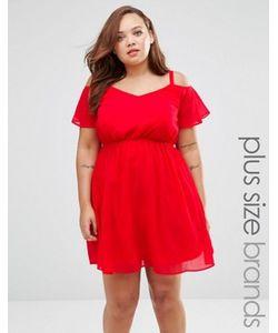 Praslin | Короткое Приталенное Платье С Открытыми Плечами Plus