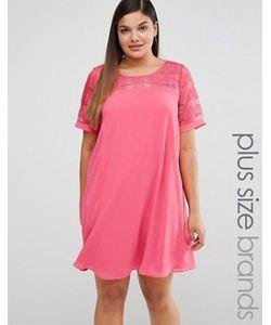 Lovedrobe | Цельнокройное Платье С Сетчатой Вставкой
