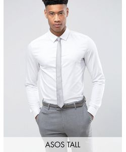 Asos | Узкая Атласная Рубашка С Двойными Манжетами Tall Wedding