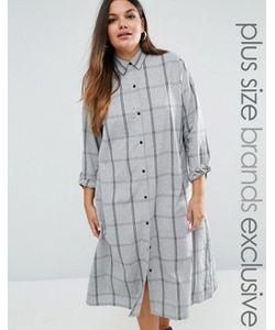 Daisy Street Plus | Длинное Платье-Рубашка В Клетку