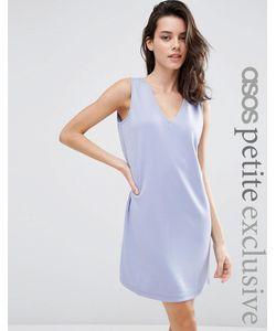 ASOS PETITE | Цельнокройное Платье Без Рукавов С Vобразным Вырезом Черный