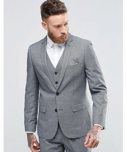 Harry Brown | Приталенный Пиджак Серый