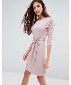Lavand. | Белое Платье С Рукавами 3/4 Lavand Розовый
