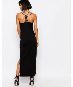 Vero Moda | Платье Макси С Решетчатой Спинкой Черный