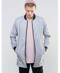 N1SQ   Двусторонняя Куртка-Пилот Со Светоотражающей Отделкой Серый