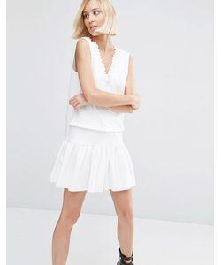 Asos | Платье С Оборками Слоновая Кость