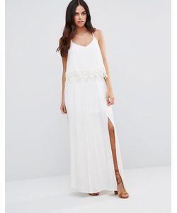 Japonica | Кружевное Платье-Халтер Белый