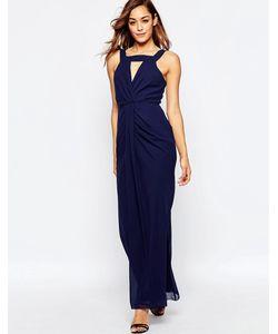 VLabel London | Платье Макси Vlabel Clarence Темно-Синий