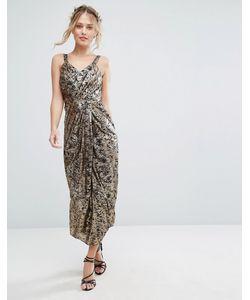 VLabel London | Платье Миди С Принтом Vlabel Kitsch Принт