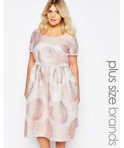 Truly You   Платье Миди Из Парчи