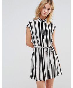 Style London | Платье-Рубашка В Полоску