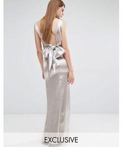 True Violet | Драпированное Платье Макси С Завязкой Сзади Stone