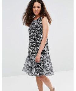 YMC | Платье С Баской И Цветочной Вышивкой