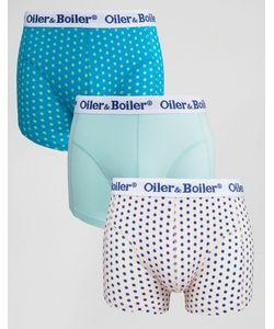 Oiler & Boiler | 3 Пары Боксеров-Брифов В Горошек Мульти