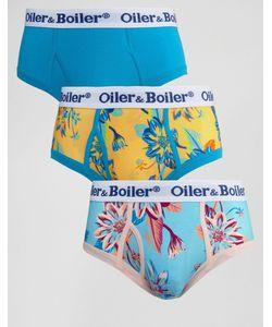 Oiler & Boiler | 3 Трусов С Георгинами Мульти